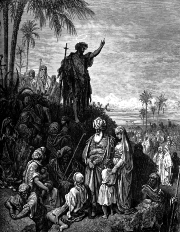 Gustave Dore - Jan Chrzciciel napomina i głosi dobrą nowinę